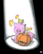 ハロウィン豚