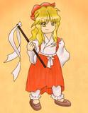 金髪の謎巫女さん