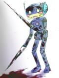 返り血ロボット