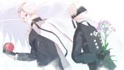 MMD刀剣乱舞】花江夏樹くんが演じる2キャラで1枚【MMDNieR】