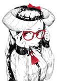 眼鏡でこ角娘