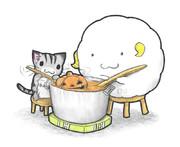 カボチャスープを作る獣達