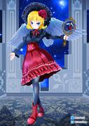 【オリジナル】 黒×赤 天使少女