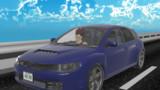 インプレッサを運転するベジータ