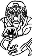 レジ2の兵士とリーパー描いてみた。