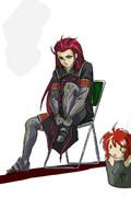 アッシュにはパイプ椅子が似合う