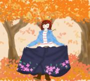 秋に舞い踊る、春が香る少女