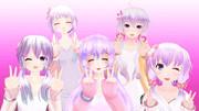【MMD】ゆかりん笑顔でWピース!