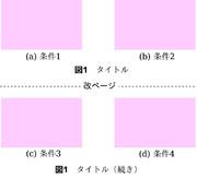 ページをまたぐ図表キャプションの付け方