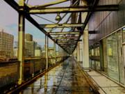 ビルの回廊