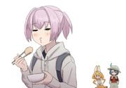 おでんを食べるぬいぬい