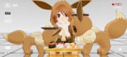 【MMD】イーブイ好き寿司?