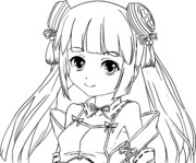 ♣高画質塗り絵♣戦乱プリンセス/奏ちゃん