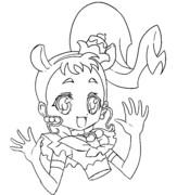♣版権モノ塗り絵♣キュアカスタードちゃん