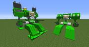 """【minecraft】無人型第9世代主力戦車""""マンティス""""を作ってみた【jointblock】"""