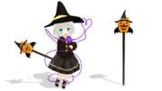 【MMDアクセサリ配布】かぼちゃステッキ