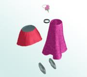 【MMDアクセサリ】衣装用に色々と5種詰め合わせ(2)