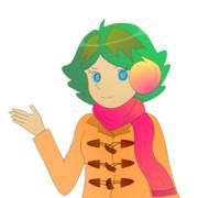 JR8DAGのAM & QRP ホームページのイメージキャラクターのゆめこ(冬服)