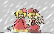 冬でもハイテンションな秋姉妹