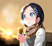 冬の朝黒潮ちゃん