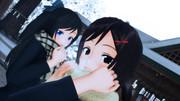 雪と女子高生