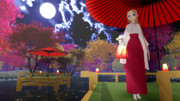 【MMD】紅葉提灯・灯篭・川床(配布)
