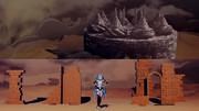 【配布】砂の惑星風の廃墟とケーキ