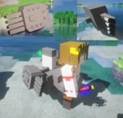 #Minecraft 4連装魚雷発射管をてきとうに作った  #JointBlock