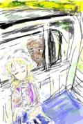 軽トラの荷台で眠るjoker姉貴