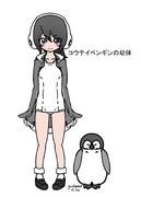 コウテイペンギンの幼い頃