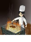料理をする中野有香