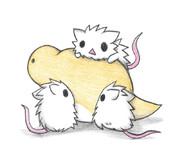 ツチノコと白ネズミ