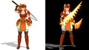 MMDモデル「炎の女剣士」