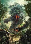 sw2.0リプレイ絵6「大樹岩ゴーレム戦」
