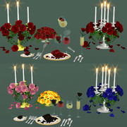 食卓と花 配布