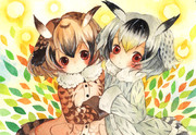 コノハ博士とミミちゃん助手