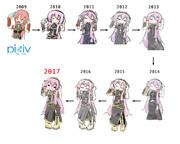 pixiv新旧デジ絵比較 '09〜'17