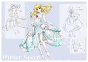 冬の女王のドレス