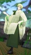 【改変モデル配布】雁音白緑・人間擬態【MMDオリキャラ】