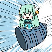 清姫の空中ダッシュ攻撃