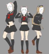 狐面黒セーラー