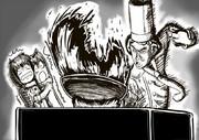 絶大な火力で博士と助手にトラウマを植え付けるシェフ大泉