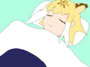 布団で寝るサーベルタイガー