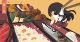 お題箱「秋の味覚フルコースを堪能する赤城」