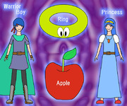 WRAP (Warrior-boy, Ring, Apple, Princess)