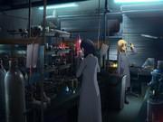 実験室と女の子