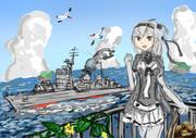 涼月、例え防波堤になろうともお守りします!