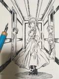 『春衡伯爵家の事情 ガイドブック1.5』表紙原画展示:於COMIC ZIN様にて