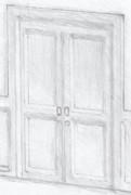 開かずの扉のラフ画版