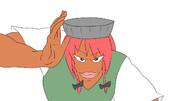 【3-4コマ】美鈴は頭に乗せるものによってその強さを変える【第9回東方ニコ童祭Exリレー漫画】